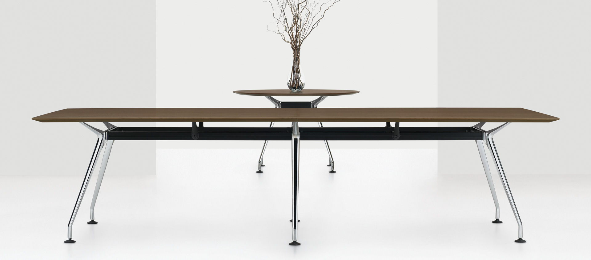 Contemporary 12' Kadin Conference Table. Available in a variety of different finish options.