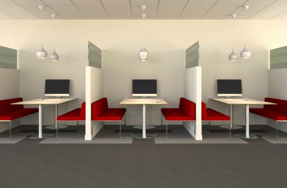 2-4 person semi-private meeting spaces ideal for project collaboration meetings.